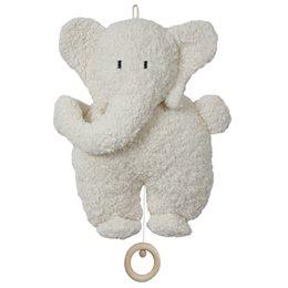 Spieluhr Elefant mit Holzring - Sandmann