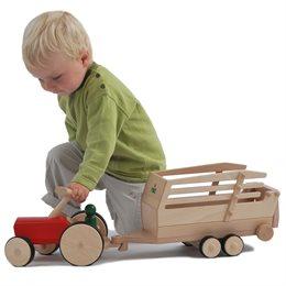 Holz Traktor creamobil - rot