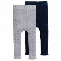 Edle Strickleggings im Doppelpack