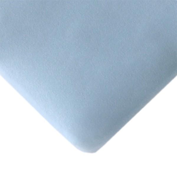 Bio Spannbettlaken 70 x 140 cm pastellblau