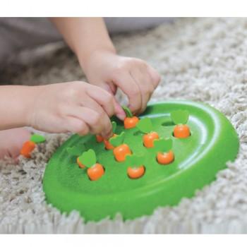 Solitär Steckspiel für Kinder Möhren ernten