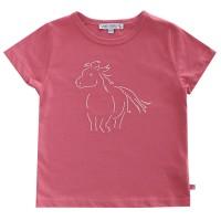 Bio T-Shirt Mädchen mit hochwertiger Pferde Stickerei