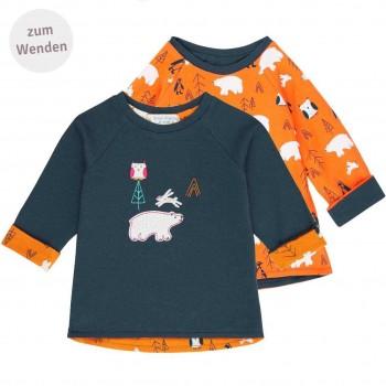 Navy  orange  Wendeshirt  langarm  Eisbären