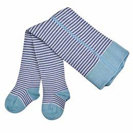 Baby Strumpfhose mit breitem Bund hellblau blau