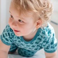 Vorschau: Wal Bio Shirt pastell blau