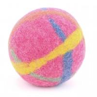 Baby Filzball mit Glöckchen - pink 9 cm