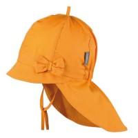 Orangene Sommer Mütze Schleife Nackenschutz