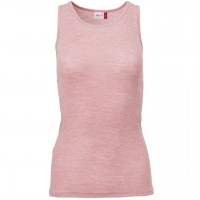 Damen Wolle Seide Tank Top in rosa melange