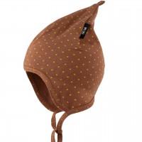 Zipfelmütze doppelt gefertigt Frühlingszeit karamell-braun