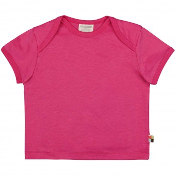 Leichtes Uni Kurzarm Shirt Basic in pink
