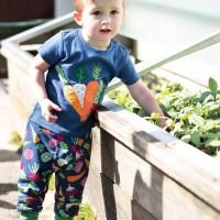 T-Shirt Gemüse Aufnäher marine