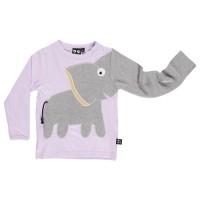 Cooles Mädchen Elefanten Shirt - langarm