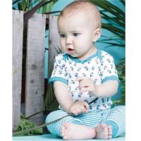 Vorschau: Baby Leggings softe Fußbündchen - blau