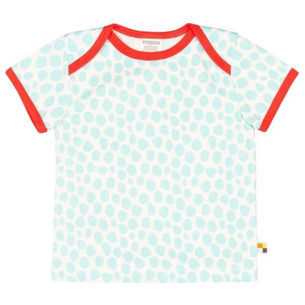 Himmelblaues T-Shirt Geparden-Look