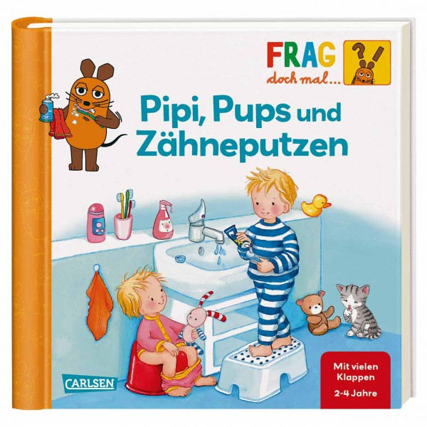 Klappenbuch Frag die Maus Pipi, Pups u.Zähne ab 2 Jahre
