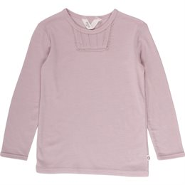 Wolle-Seide Shirt langarm altrosa