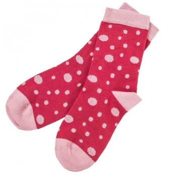 Mädchen Kindersocken Feinstrick pink gepunktet