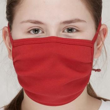 Behelfsmaske waschbar zum Binden – einlagig rot