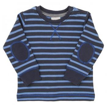 Etwas dickeres Langarmshirt blau gestreift