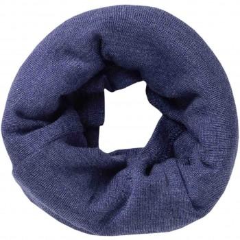 Damen Wolle Seide Schlauchschal kobaltblau