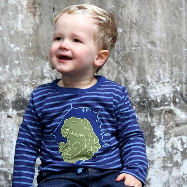 Jungen Thyranno Saurier Langarmshirt blau