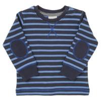 Robustes Langarmshirt blau gestreift