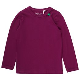 Basic bordeaux Shirt langarm