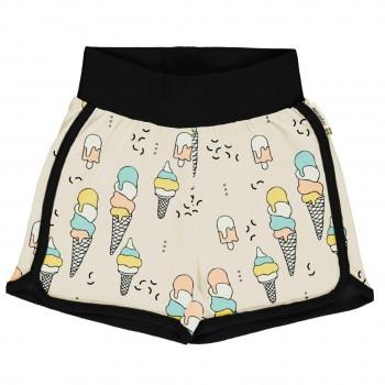 Leichte Jersey Shorts Eiscreme in hellgelb