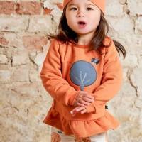 Schößchen Sweatshirt mit Baum apricot-orange