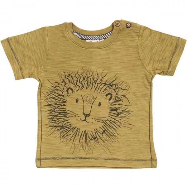 Slub T-Shirt Löwe in khaki