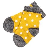 Bio Babysocken gelb gepunktet
