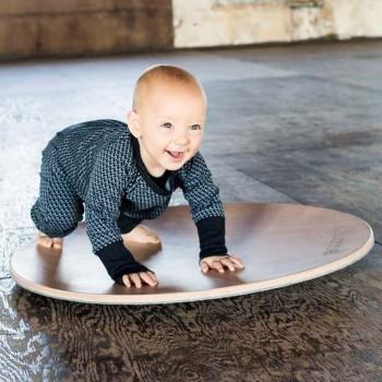wobbel Board rund 360 Grad transparent hellgrau
