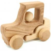 Holz Traktor mit beweglicher Achse – ab 10 Monaten