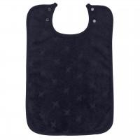 Frottee Lätzchen Druckknöpfe dunkelblau
