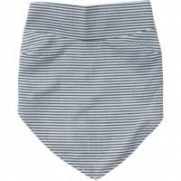 Baby Kopftuch mit Streifen in weiss/blau
