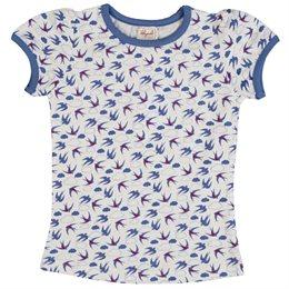 Süsses Bio Mädchenshirt mit Vögelchen