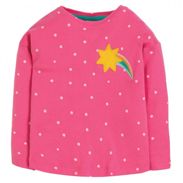Langarmshirt mit Stern in pink