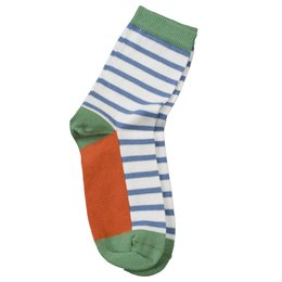 Kinder Kindersocken Feinstrick orange grün
