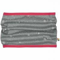 Warmer Schlauchschal Schneeflocken in grau