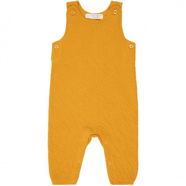 Bequemer Strick-Jersey Strampler in senf-gelb