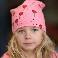 Beanie Lollis in leuchtendem rosa