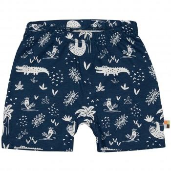 leichte Dschungel Shorts dunkelblau