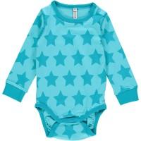 Sternen Baby Body türkis Sterne