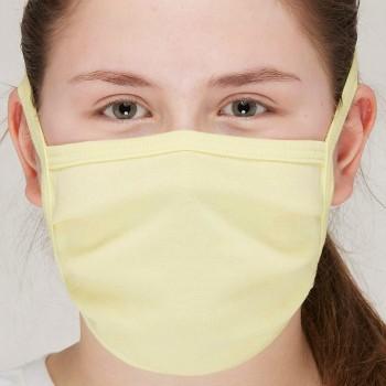 Behelfsmaske waschbar zum Binden – einlagig lemon