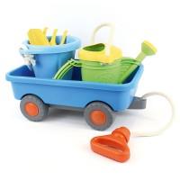 Set Sandspielzeug mit Handwagen für Kinder blau