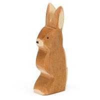 Hase Ohr hoch Holzfigur 6,5 cm hoch