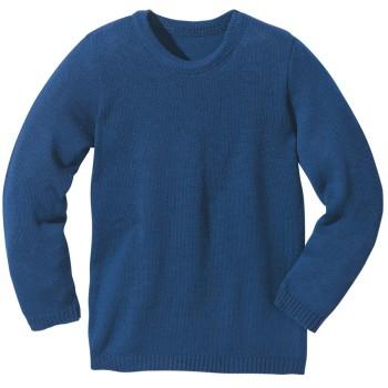 Wolle Pullover Melange marine