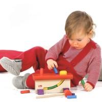 Baby Pullover Melange Schlupfkragen rot