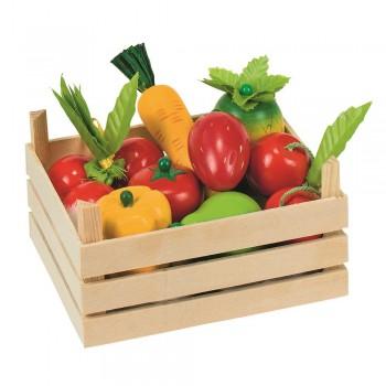 Gemüsekiste für Kaufmannsladen - Obst & Gemüse