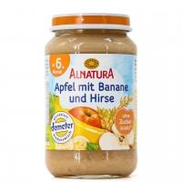 Apfel mit Banane und Hirse für Babys ab 6 Monaten (190g)